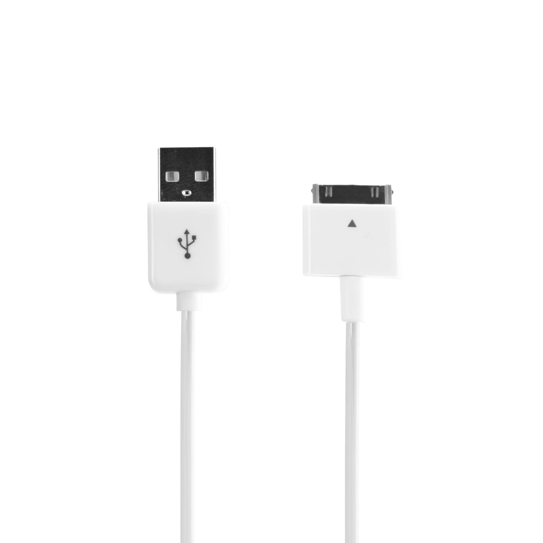 Câble de charge et de synchronisation 30 pins Xqisit blanc
