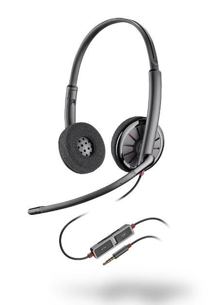 Casque POLY Blackwire 225 2 écouteurs jack 3.5 noir