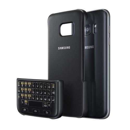 Coque Clavier AZERTY Samsung Galaxy S7 Noir