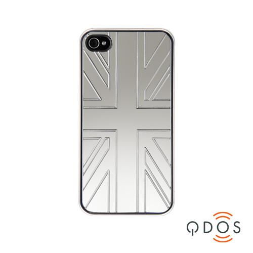 Coque Qdos Mirroir Union Jack iPhone 4, 4S