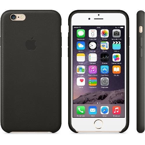 Coque en cuir Iphone 6 noir