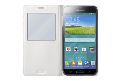 Etui Clear Cover blanc Galaxy S5