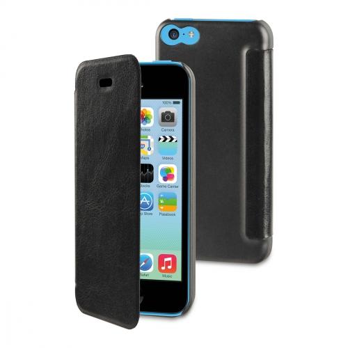 Etui folio Muvit iPhone 5C noir