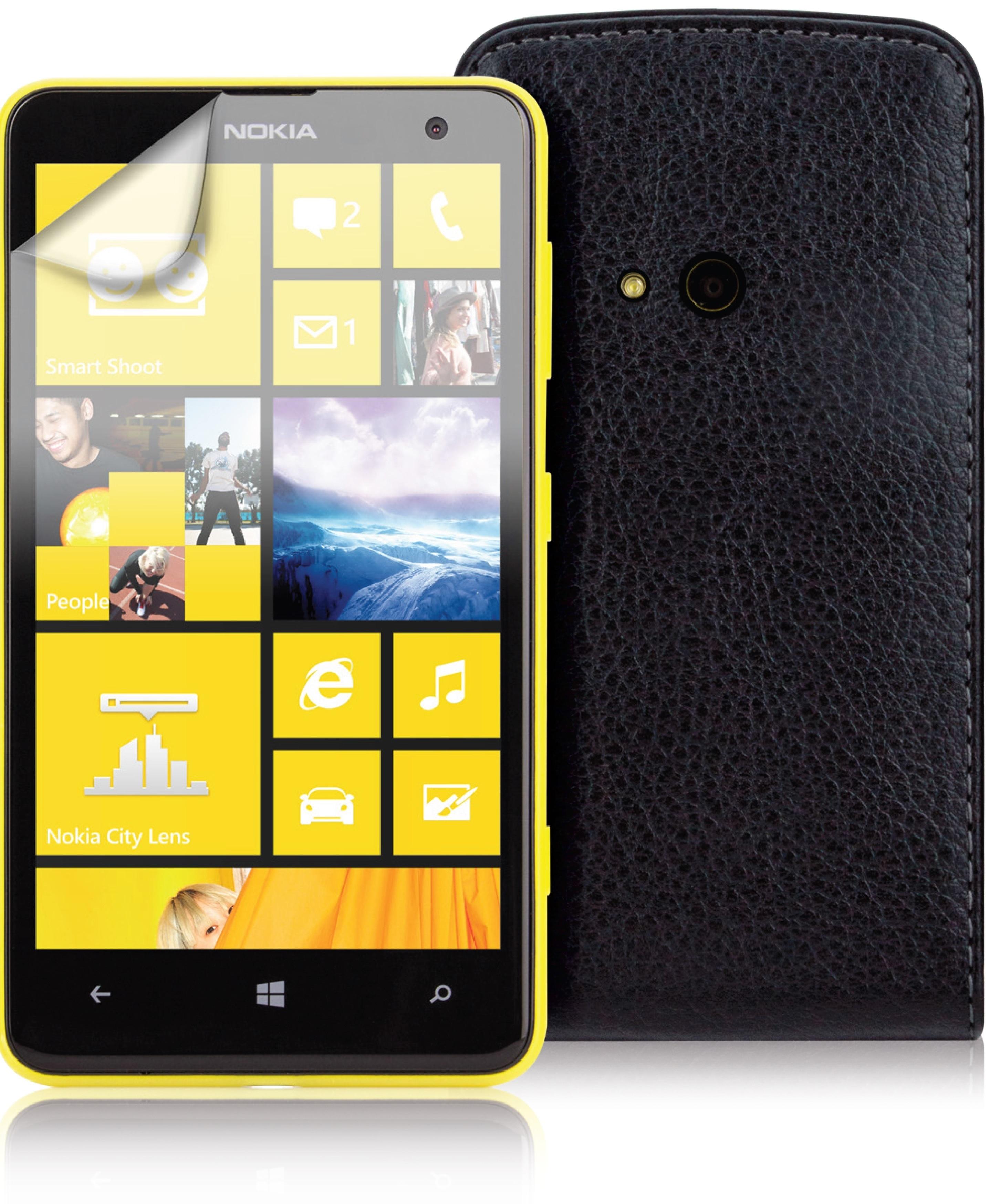 Etui flap noir Nokia Lumia 625