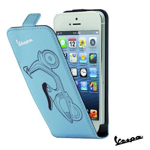 Etui Rabat Vintage bleu iPhone 5