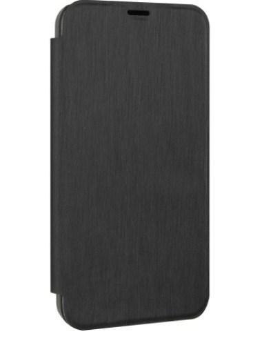 Etui folio Nokia Lumia 635 métal brossé noir