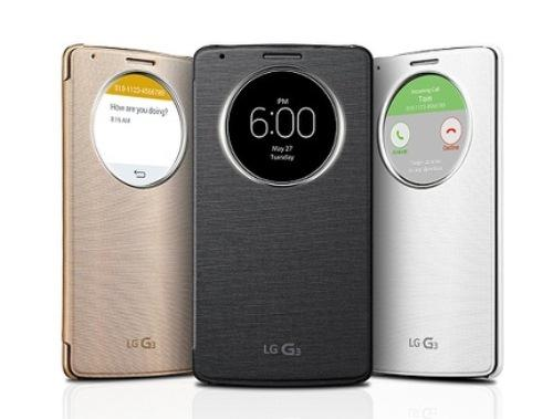 Etui folio Quick Circle LG G3 noir