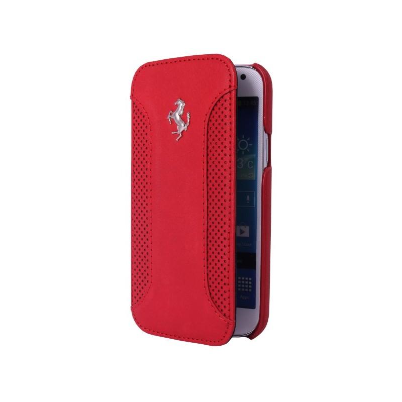 Etui folio Ferrari F12 rouge pour Samsung Galaxy S5