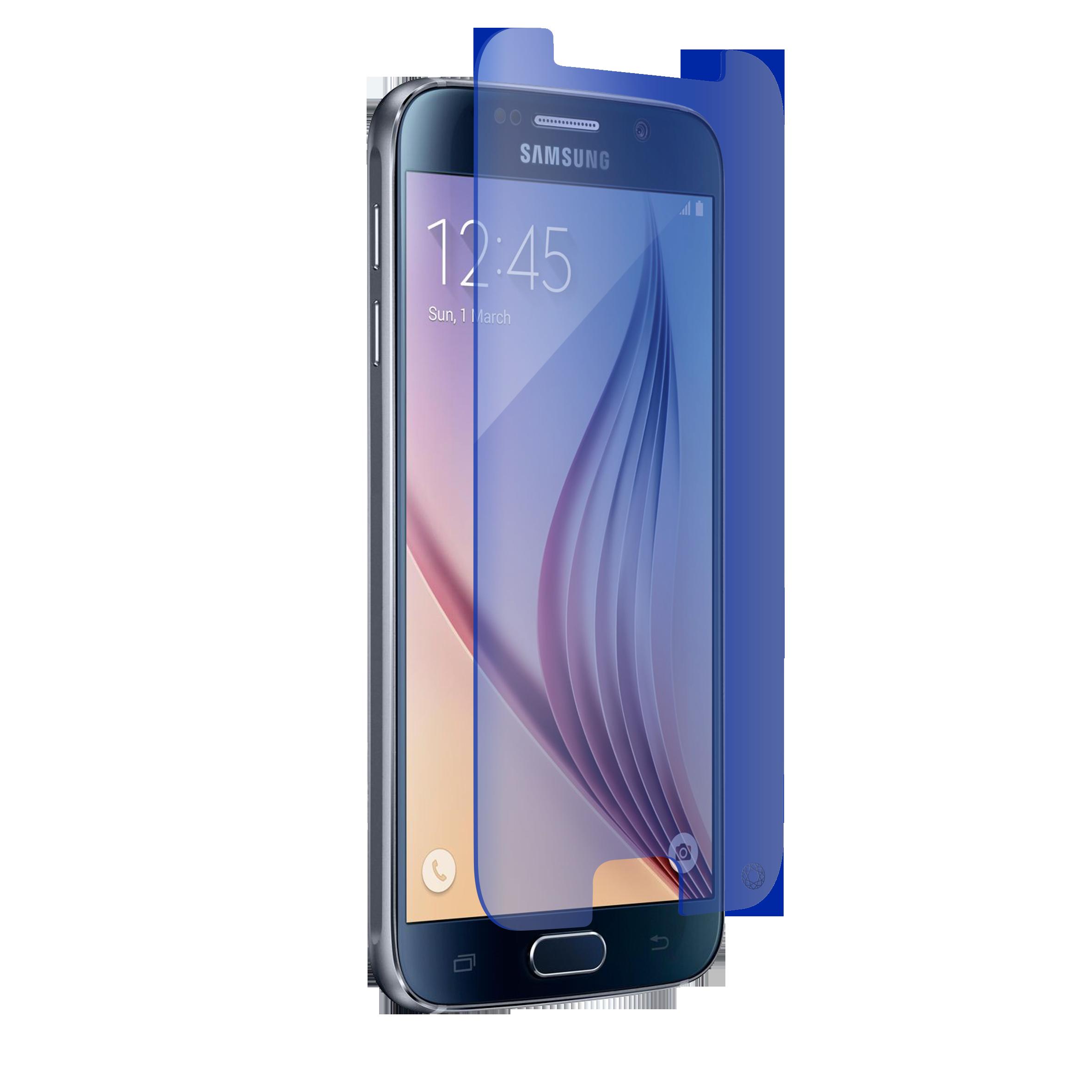 Film Verre Trempé FORCE GLASS Bleu Samsung Galaxy S6
