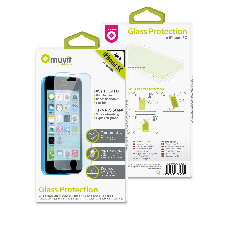 Film de protection en verre trempé Iphone 5c/5s
