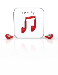 Ecouteurs filaires Happy Plugs rouge