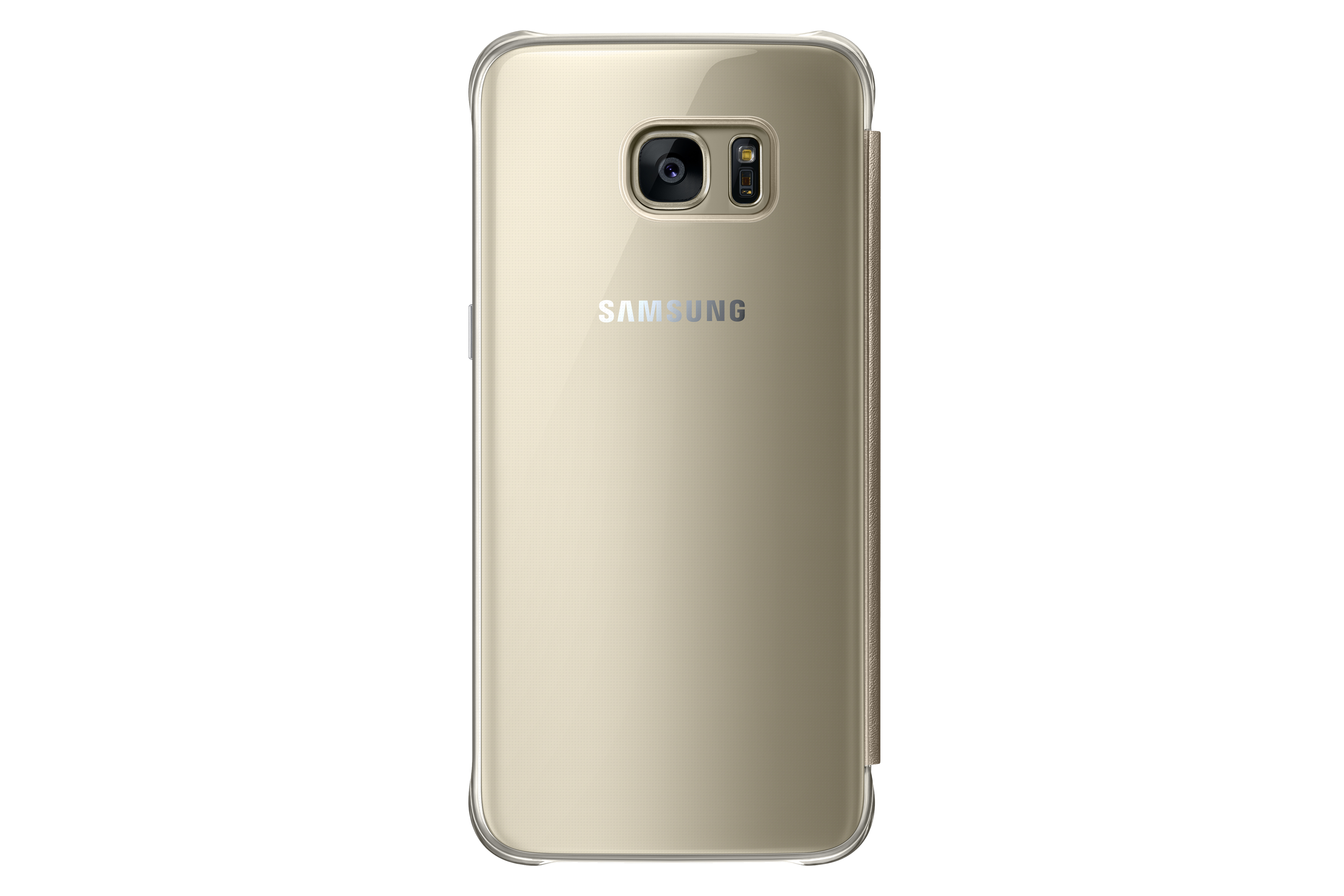 Coque Clear View Samsung Galaxy S7 EDGE Or