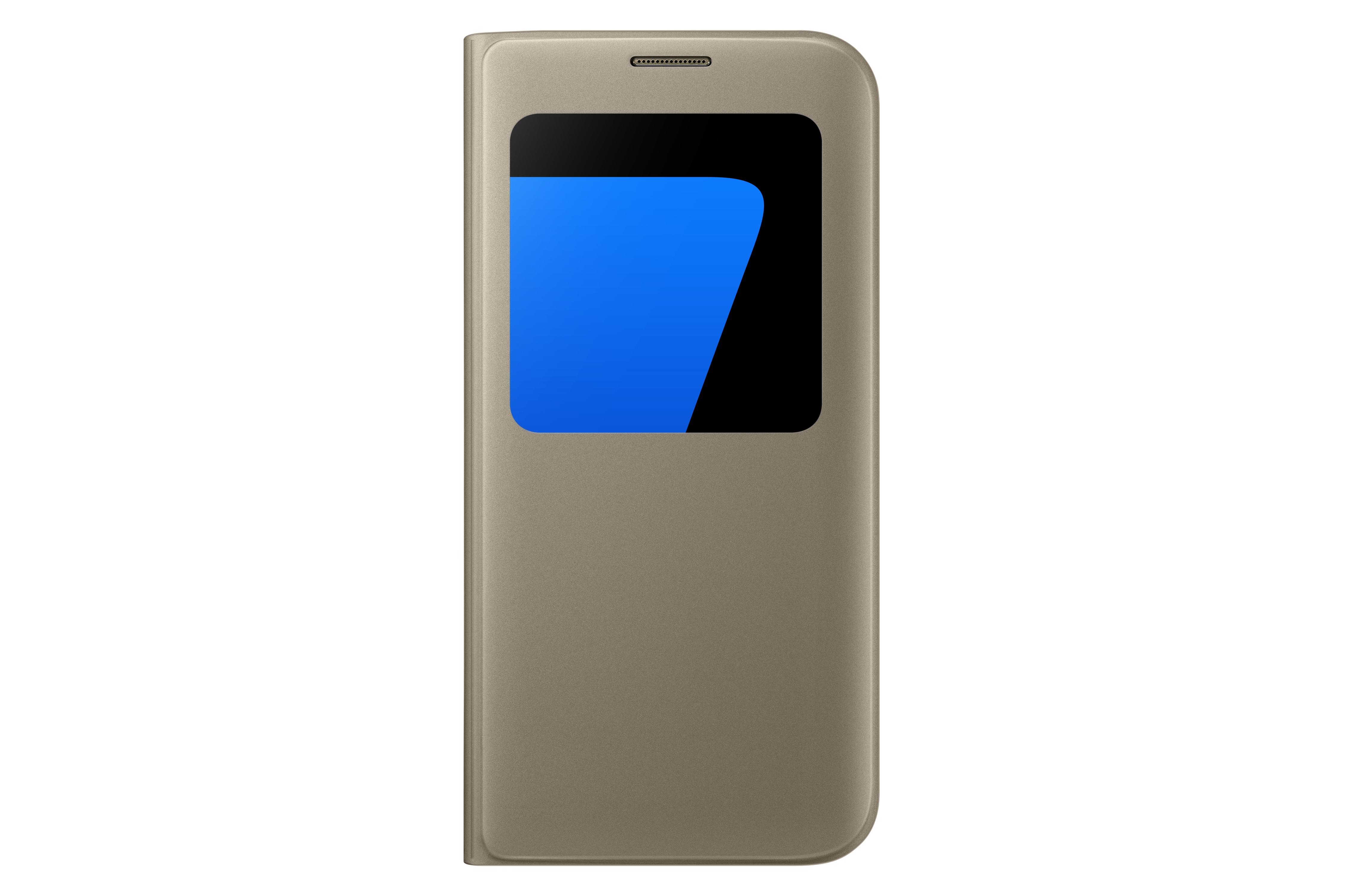 Etui à fenêtre S VIEW Samsung Galaxy S7 EDGE Or