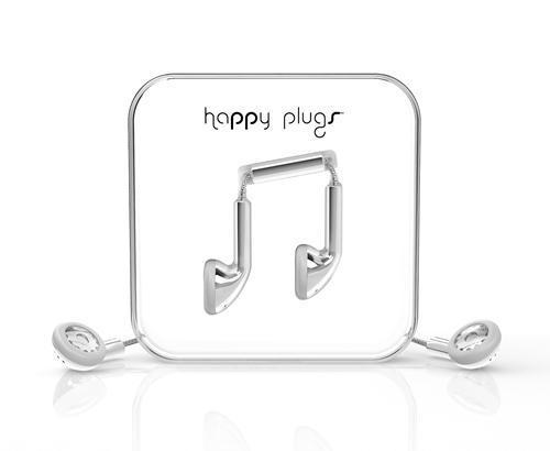 Ecouteurs filaires Happy Plugs Argent