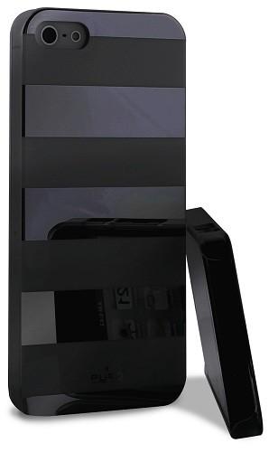 Coque PURO Stripes pour iPhone 5S Noir