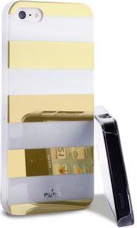 Coque PURO Stripes pour iPhone 5S Blanc