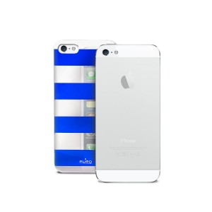 Coque PURO Stripes pour iPhone 5S Bleu