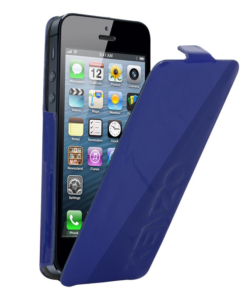Etui rabat Glossy Kenzo bleu iPhone 5