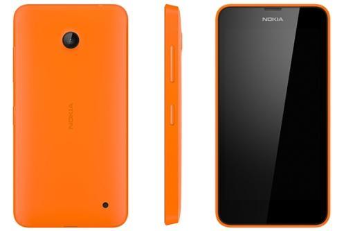 Lot de 2 coques Nokia Lumia 635 jaune, orange