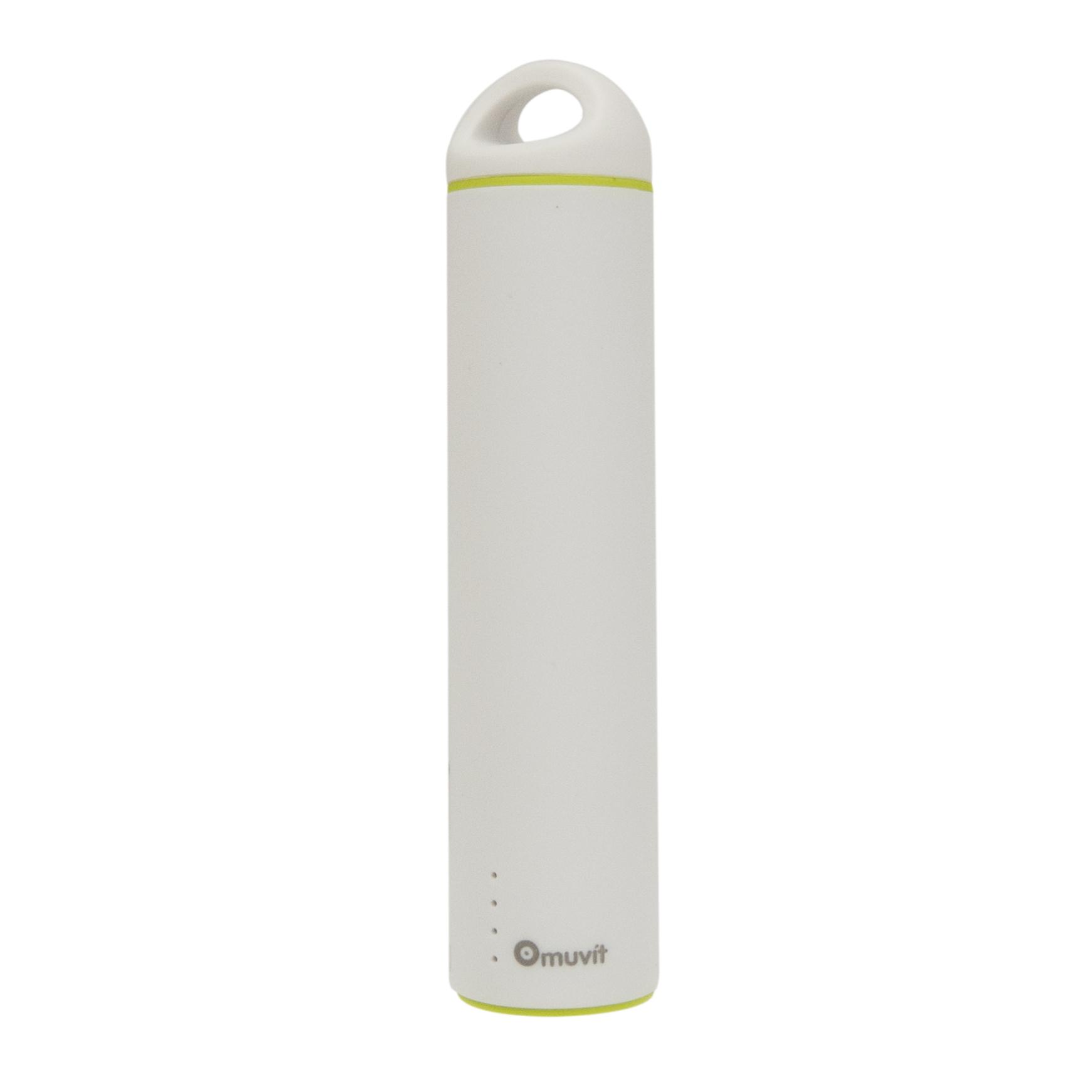 Batterie de secours Muvit 2600 mAh Blanc