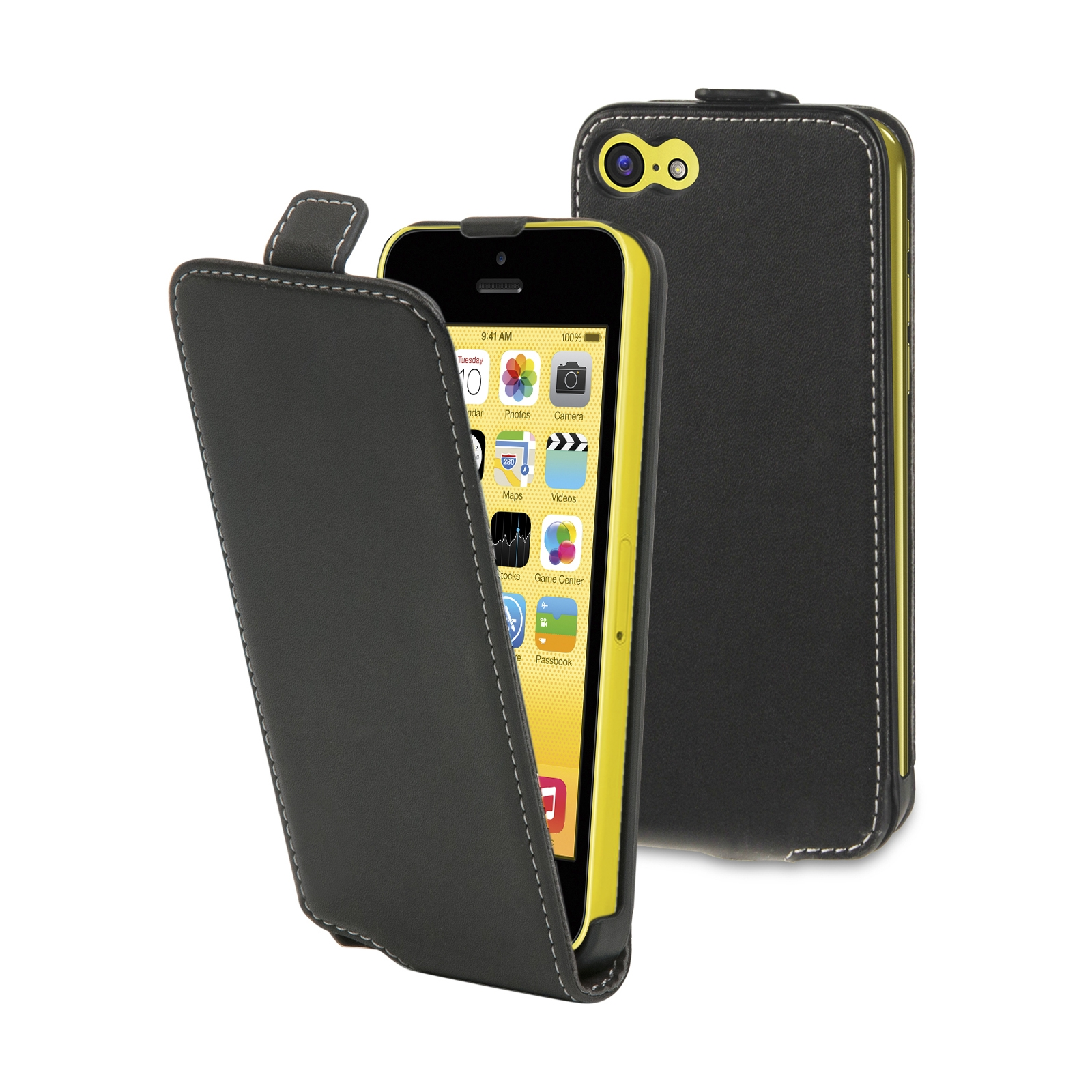 Etui flap noir Iphone 5c