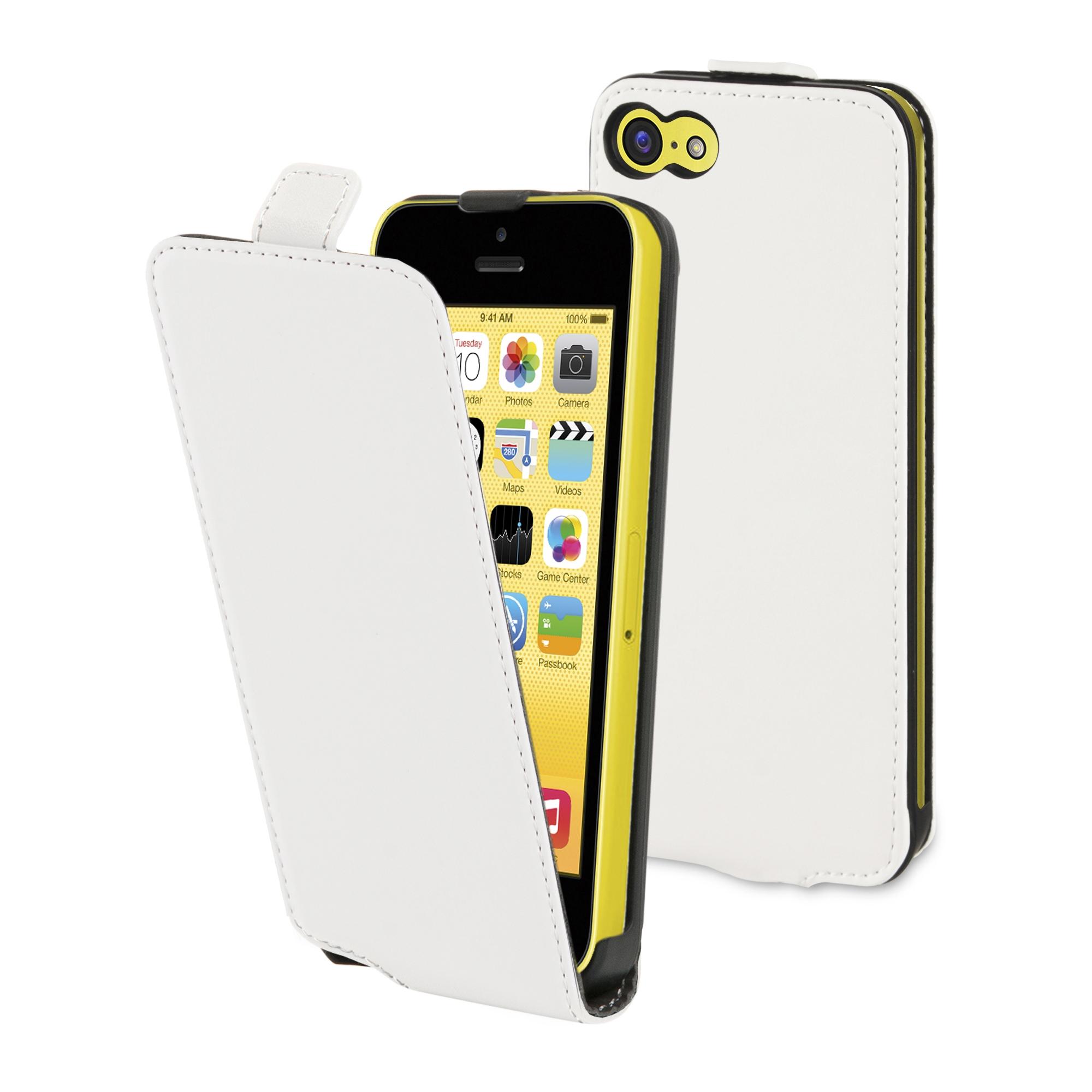 Etui flap Muvit iPhone 5C blanc