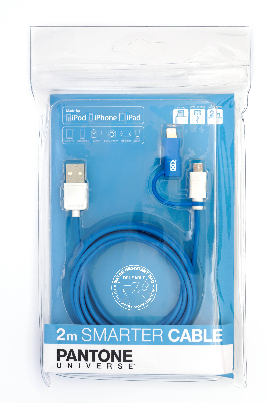 Cable Pantone 2M micro iPhone 6 bleu