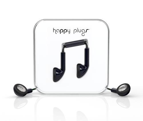 Ecouteurs filaires Happy Plugs noir