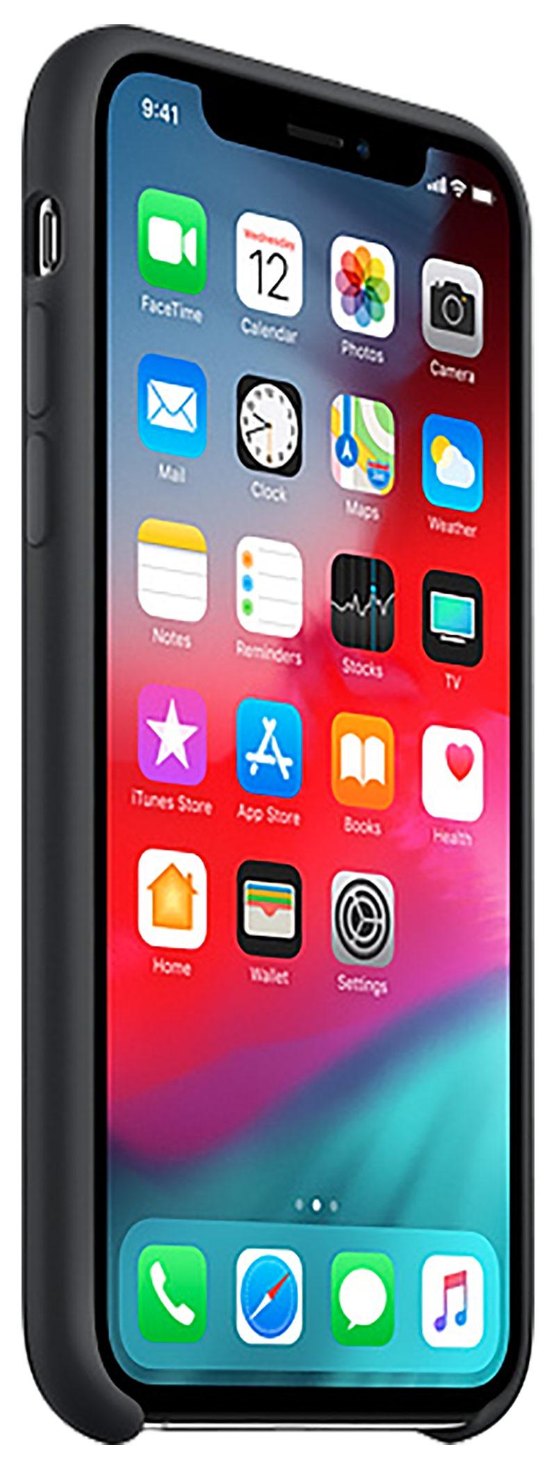 Coque en silicone pour iPhone Xs noir