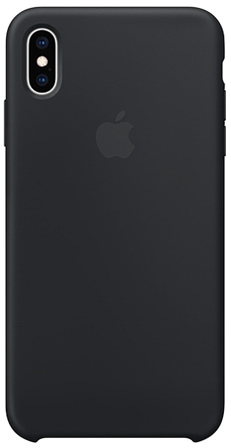 Coque en silicone pour iPhone Xs Max noir