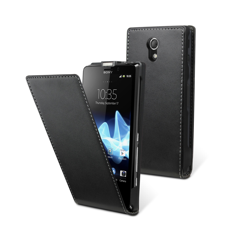 Etui Rabat Sony Xperia T noir