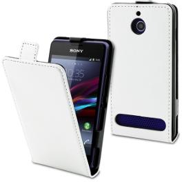 Etui flap Sony Xperia E1 blanc
