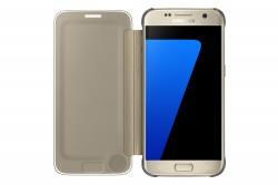 Coque Clear View Samsung Galaxy S7 Or