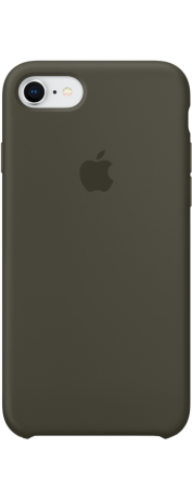 Coque en silicone pour iPhone 8 / 7 olive