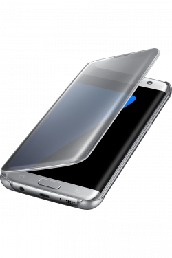 Coque Clear View Samsung Galaxy S7 EDGE Argent