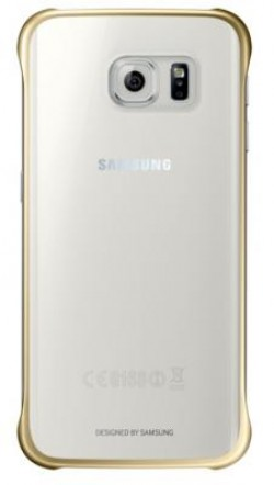 Coque Transparente Samsung Galaxy S6 Edge Gold
