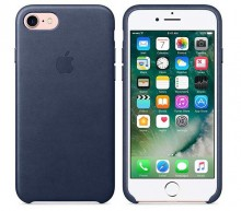 Coque de protection en cuir bleu <BR>Smartphone iPhone 7