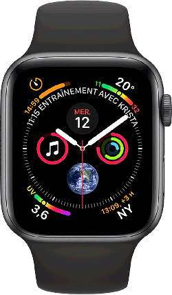 Apple Watch Series 4 GPS 44mm noir