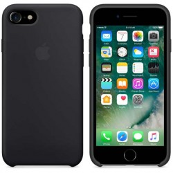 Coque en silicone iPhone 7 noir