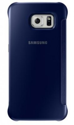 Etui Clear View Cover Galaxy S6 noir