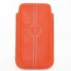 Etui cuir universel grand Façonnable orange