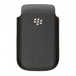 Etui Cuir Noir BlackBerry 9800