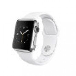 Apple Watch 38 mm Acier bracelet Sport Blanc