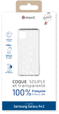 Coque Made in France Samsung Galaxy A42 5G transparente