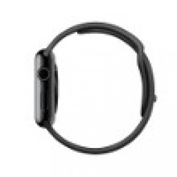 Apple Watch 42 mm Acier bracelet Sport Noir