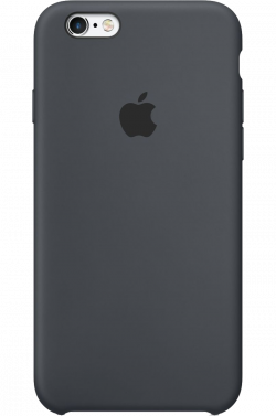 Coque en silicone iPhone 6s - Gris anthracite