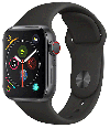 Apple Watch Series 4 4G boîtier gris 40 mm bracelet sport noir