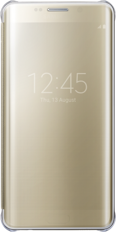 Clear View S6 Edge + gold