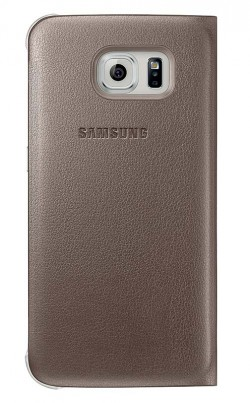 S View Cover Samsung Galaxy S6 Gold
