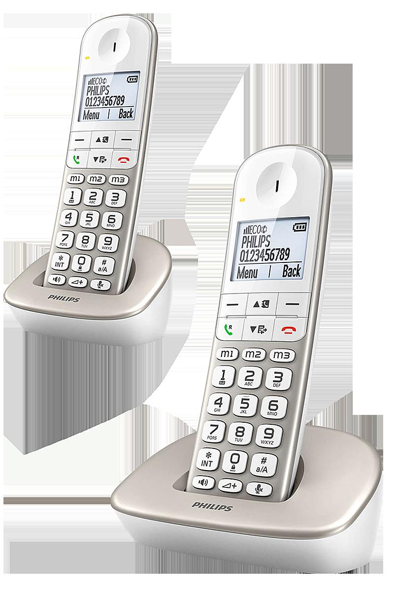Téléphone Fixe Philips XL 490 Duo